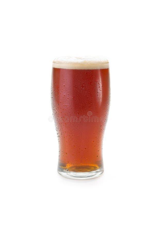 Birra in un vetro della pinta immagine stock libera da diritti