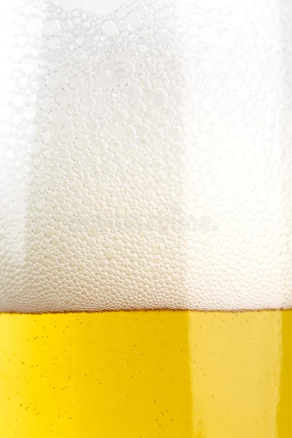 Birra in un vetro fotografie stock