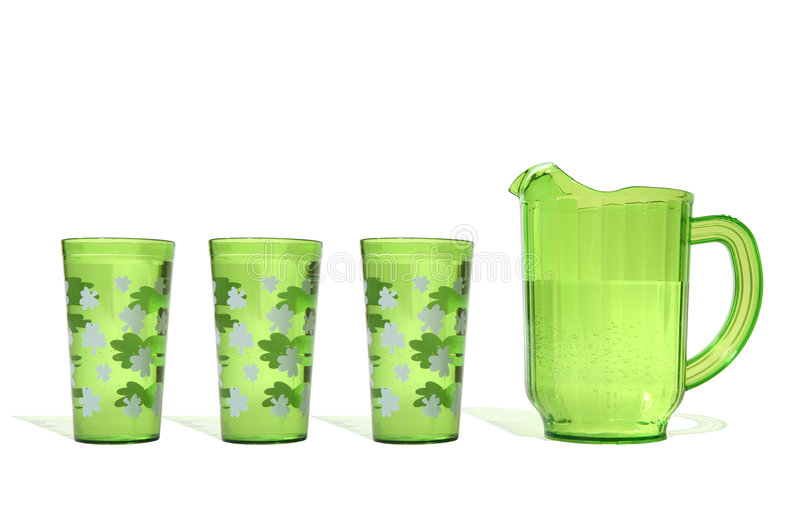 Birra verde fotografie stock libere da diritti