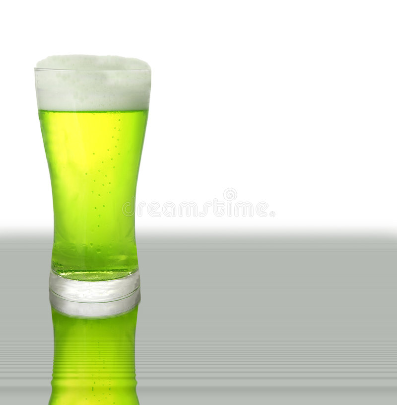Birra verde fotografia stock