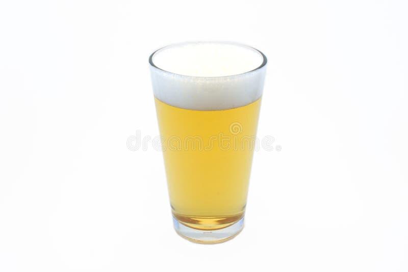 Birra in vetro della pinta fotografie stock
