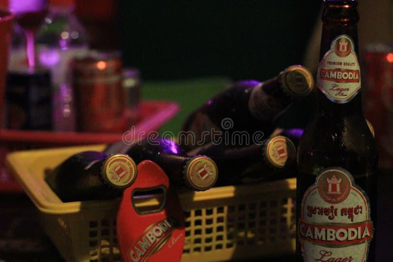 Birre della Cambogia immagini stock