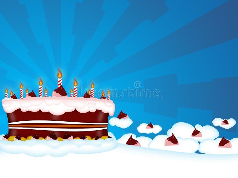 Birtday feliz ilustração royalty free