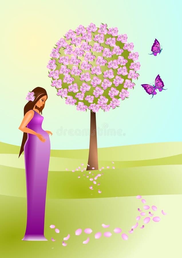 Download Birth stock illustration. Image of childbirth, flower - 17892535
