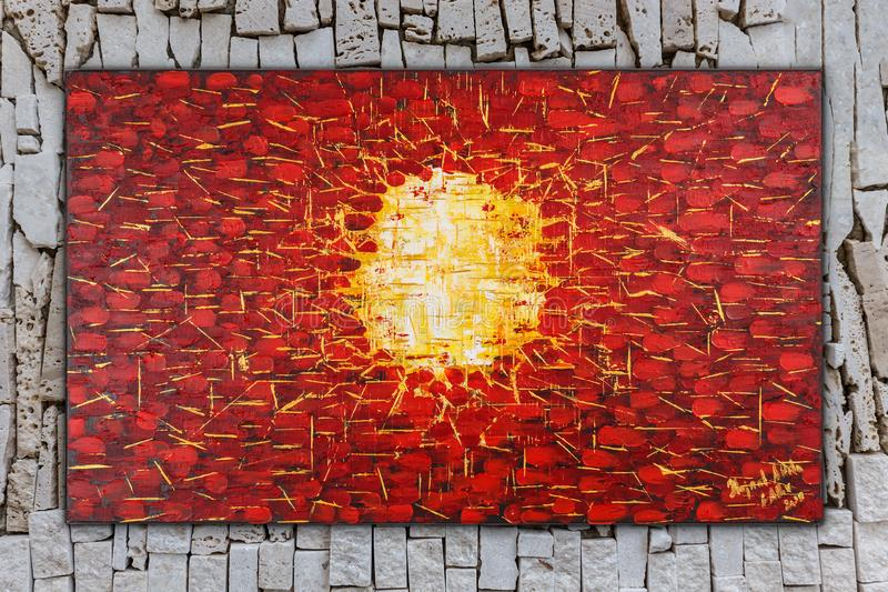 Birth, Abstract oil painting on canvas royalty free illustration
