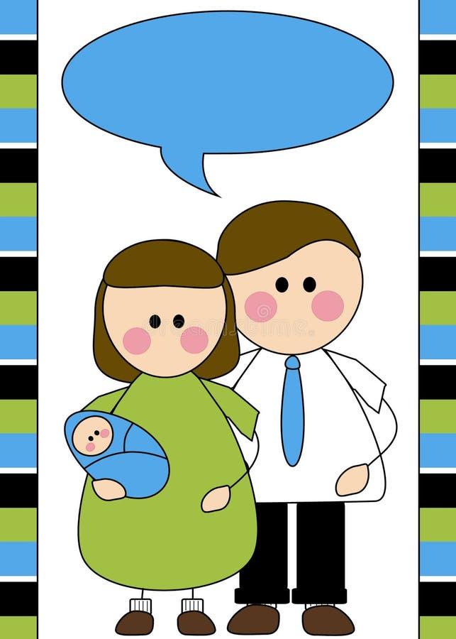 Birth announcement illustration