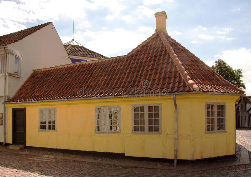 Birth house of Hans Christian Andersen in Odense, Denmark royalty free stock photos