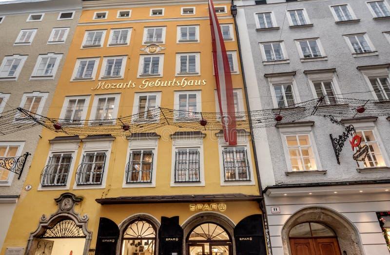 Birth house of Wolfgang Amadeus Mozart in Salzburg, Austria stock image