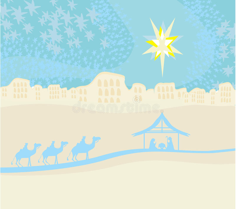 Download Birth Of Jesus In Bethlehem. Stock Vector - Illustration: 32890066