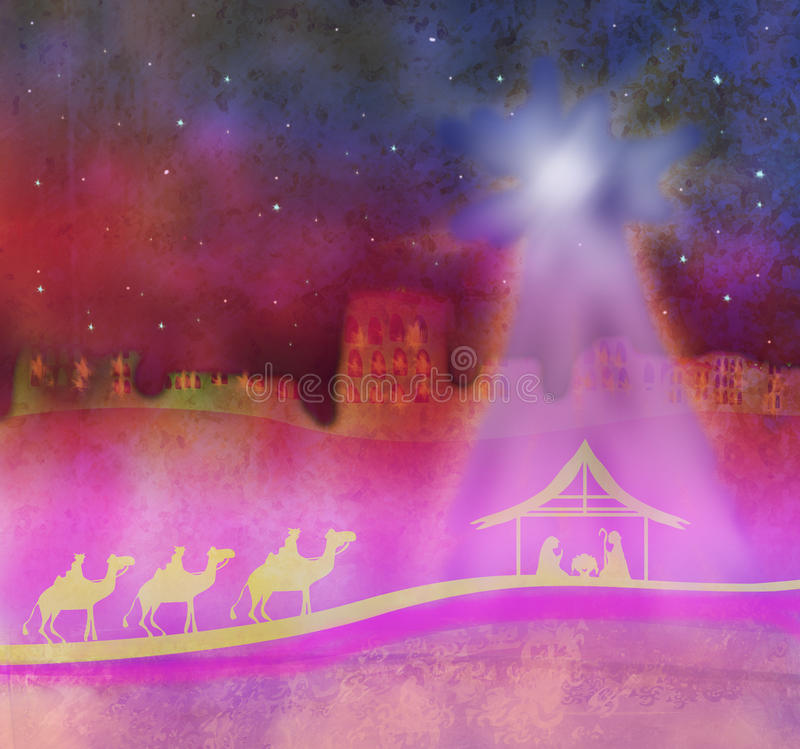 Birth Of Jesus In Bethlehem. Stock Photography