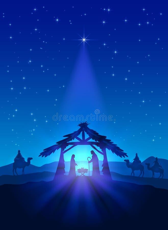 Birth of Jesus royalty free illustration
