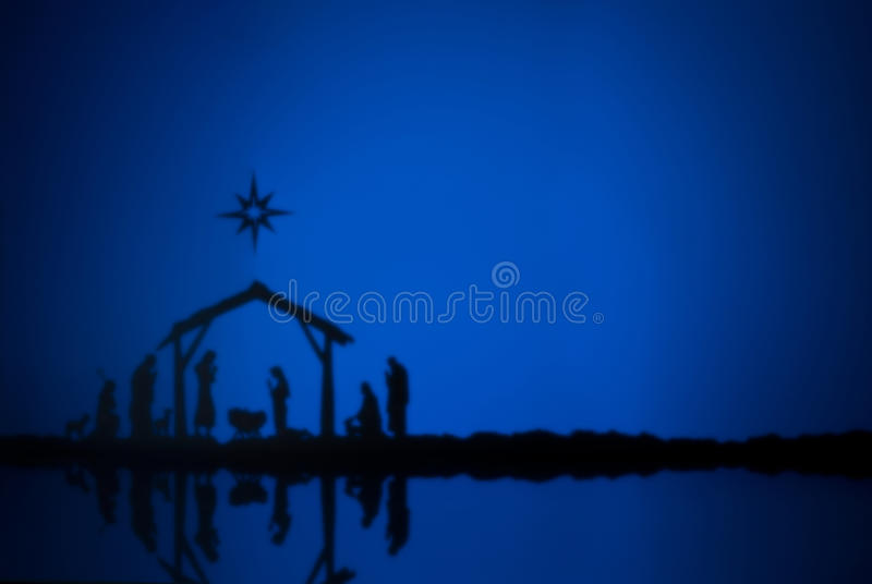 Birth Jesus. Silhouette of the crib in Bethlehem royalty free stock image