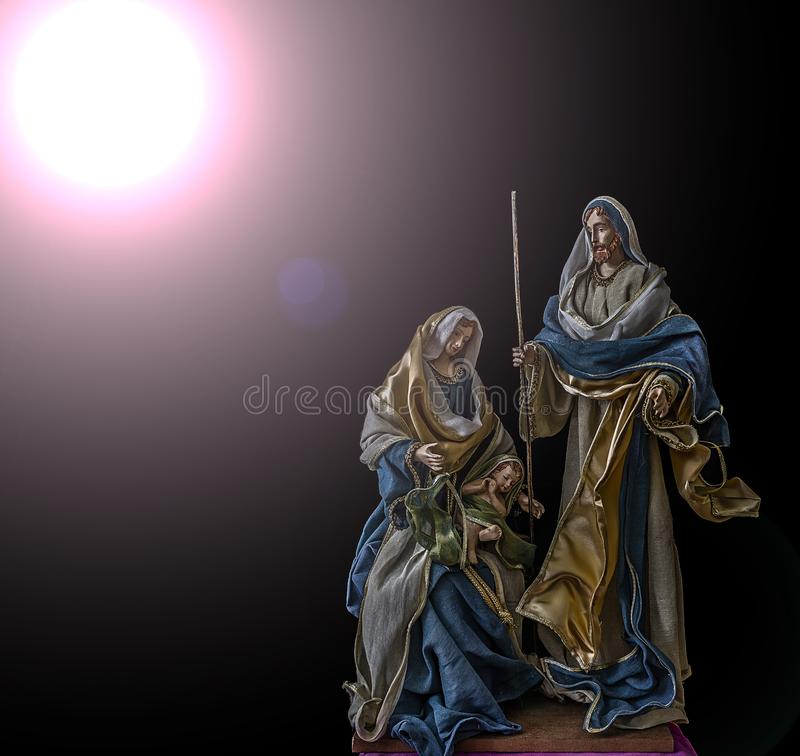 Birth of Jesus with the Virgin Mary and Saint Joseph royalty free stock images