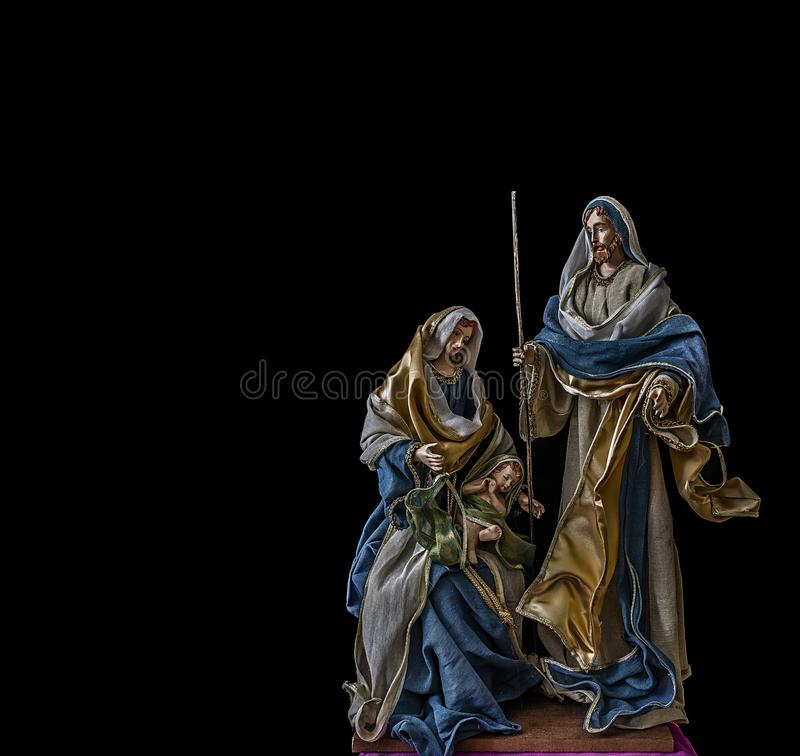Birth of Jesus with the Virgin Mary and Saint Joseph stock image