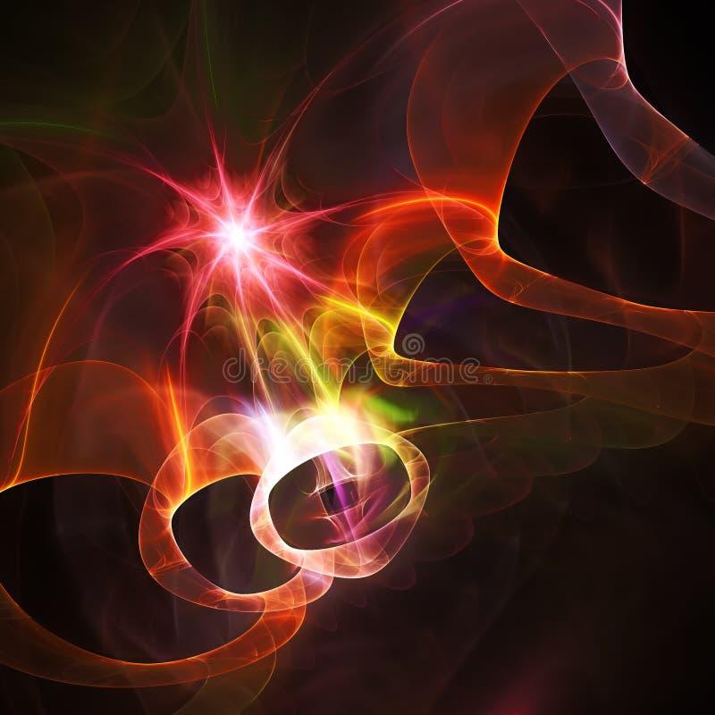 Fantastic fractal star. Raster graphics vector illustration