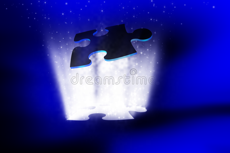 Birth of stars stock illustration