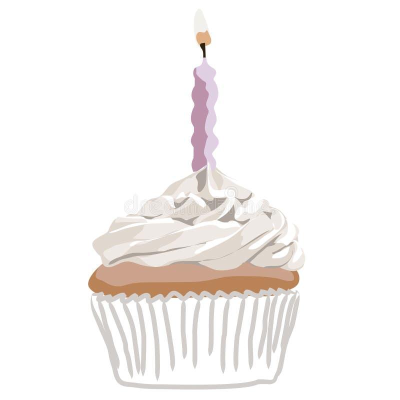 Birthady cupcake pink vector stock photo