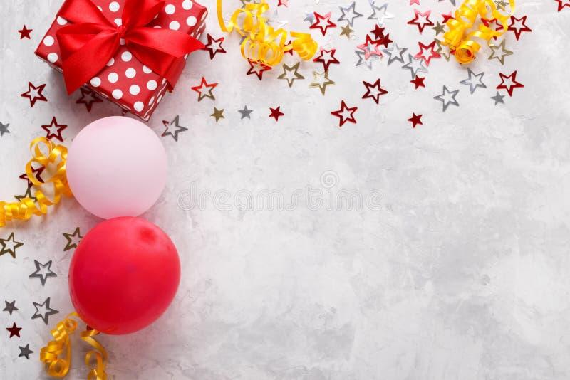 Birthdat of Carnaval-achtergrond stock afbeelding