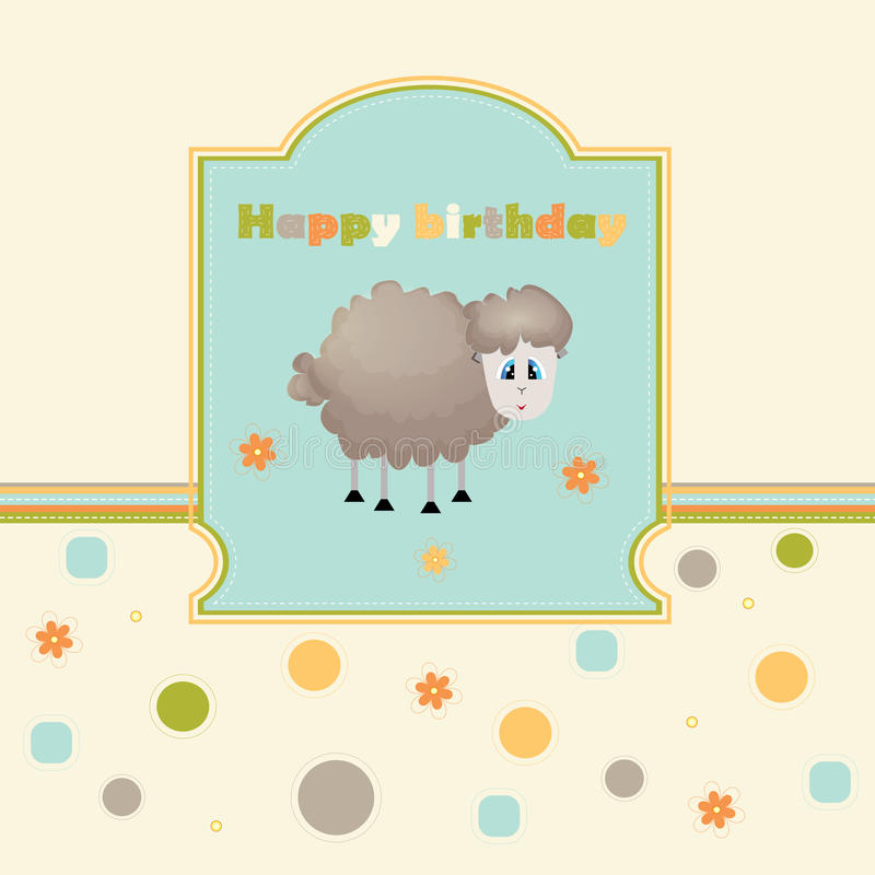 Birthday. Template greeting card for postcards stock illustration