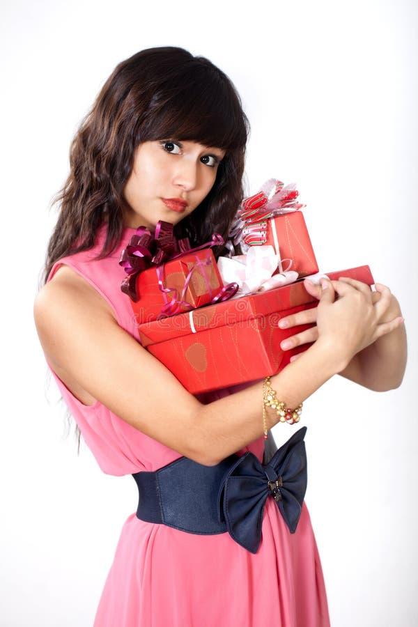 Download Birthday stock photo. Image of girl, pink, hugging, packaging - 25482622
