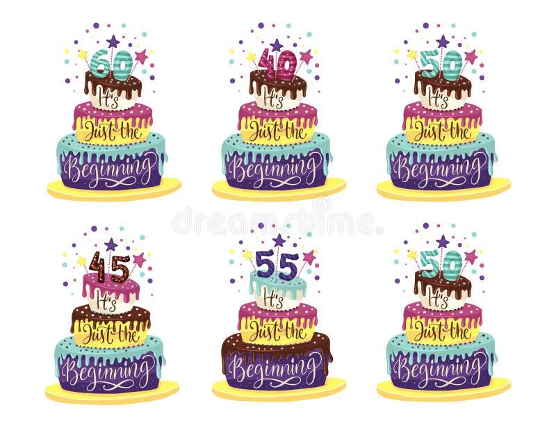 Birthday Anniversary vector. stock photo
