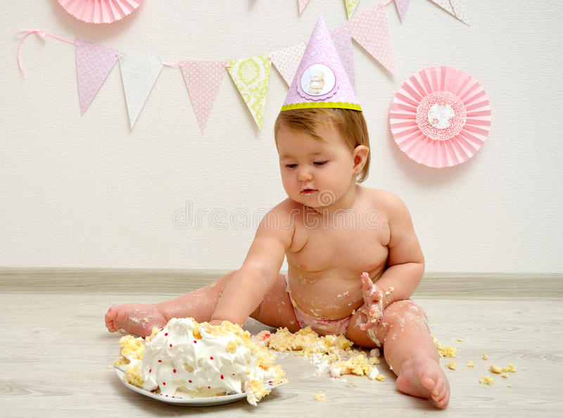 Birthday baby girl royalty free stock photography