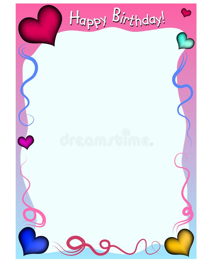 Birthday background stock illustration
