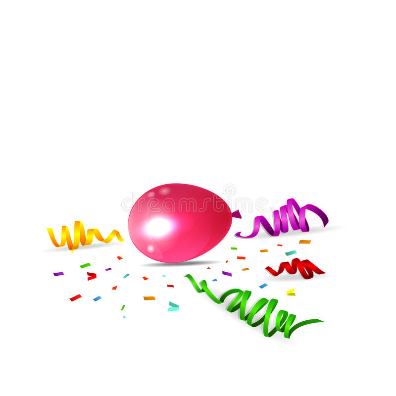 Birthday background with colorful balloons. Of illustration vector illustration