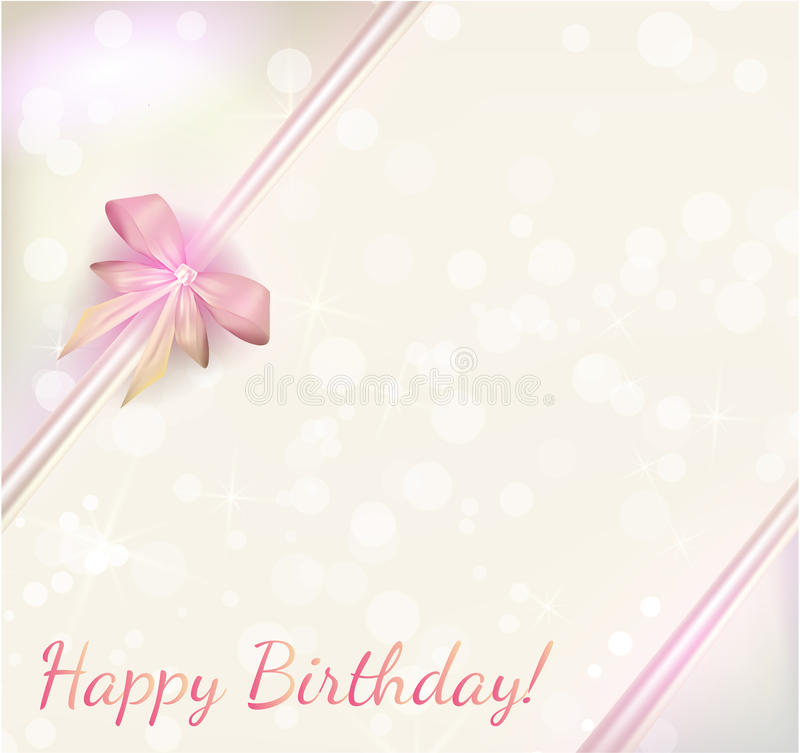 Birthday Background With Ribbons Stock Vector