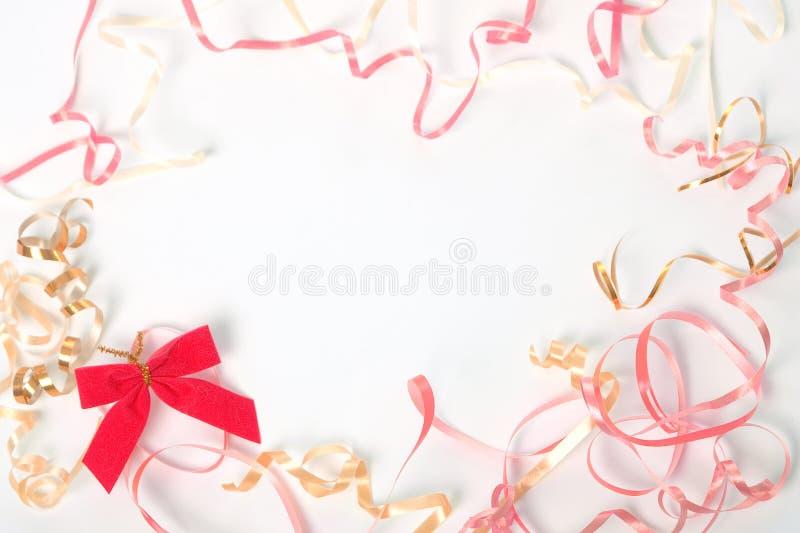 Birthday backgrounds. Birthday decorations on white background stock photo