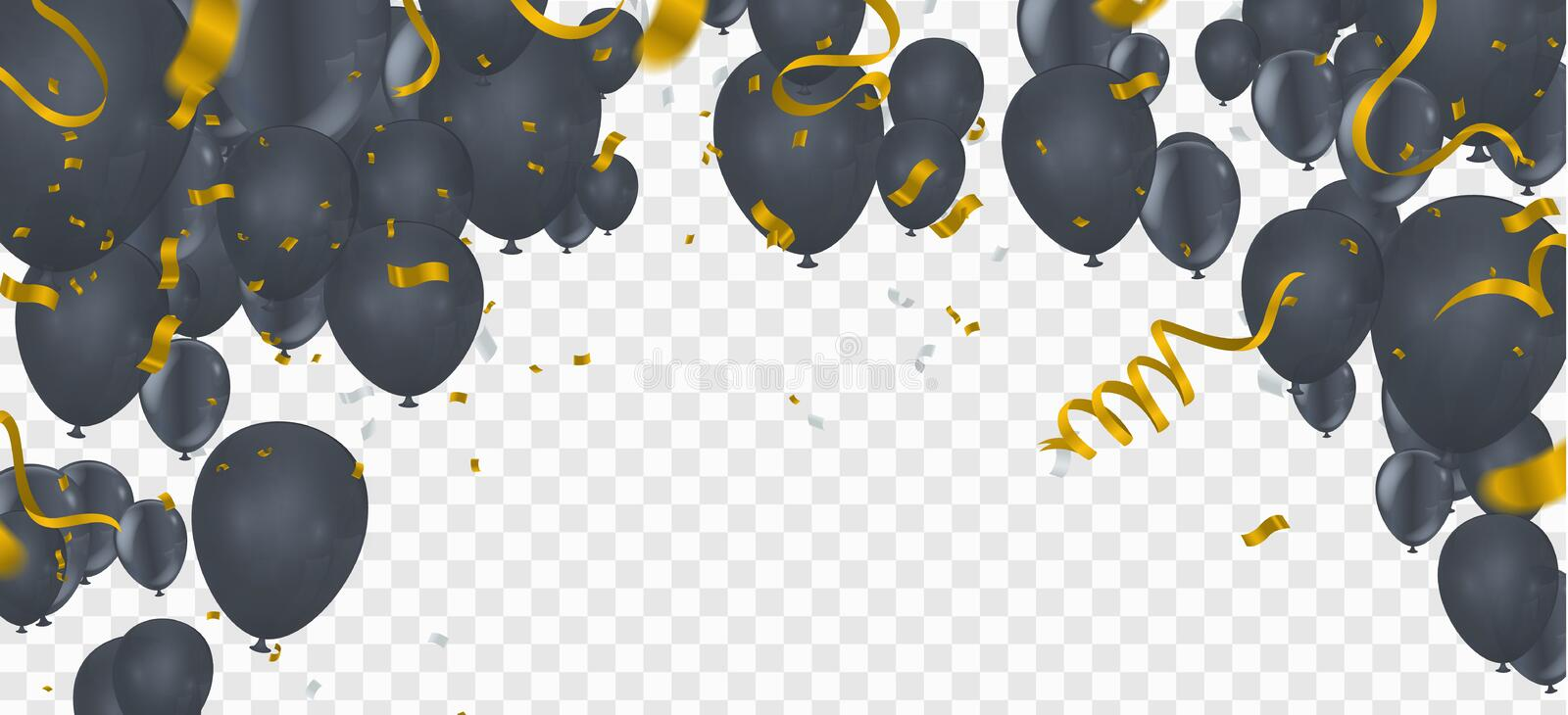 Birthday balloons template. Luxury shiny colorful balloons vector graphic. Vector Illustration of a Happy Birthday Greeting Card vector illustration