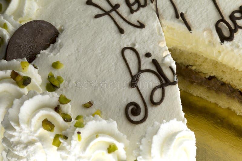 Birthday cake for party. Birthday bio cake for party stock photo