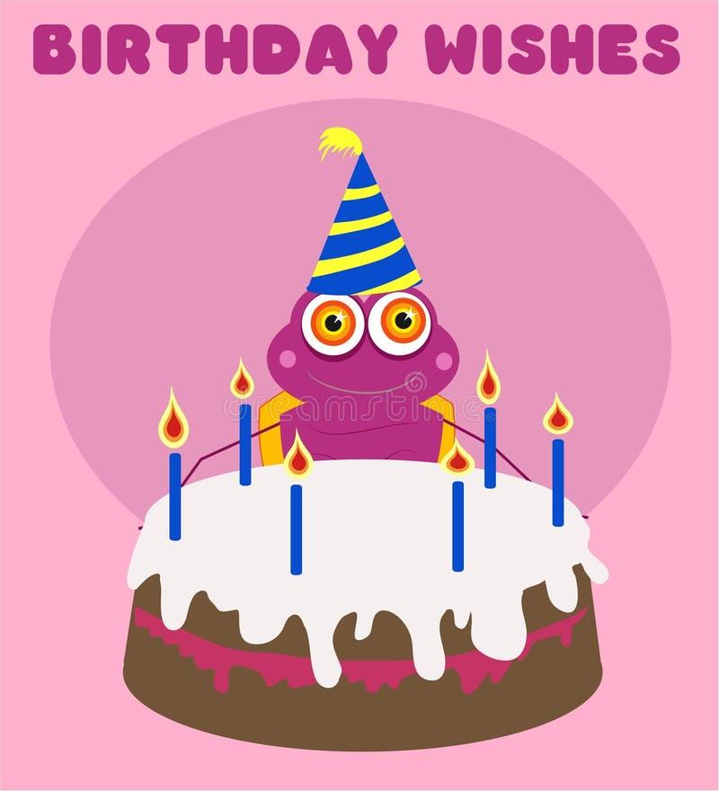 Birthday Bug vector illustration