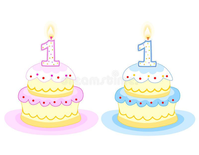 Download Birthday cake stock vector. Illustration of aqua, candle - 12201911