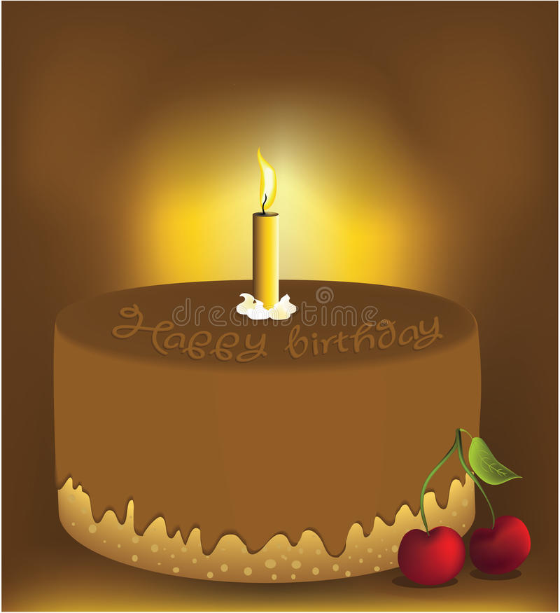 Download Birthday cake stock vector. Image of chocolate, biscuit - 12427118