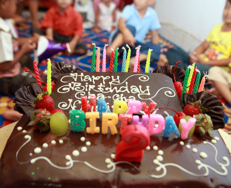 Birthday cake. Photograph ob birthday cake in party royalty free stock photography