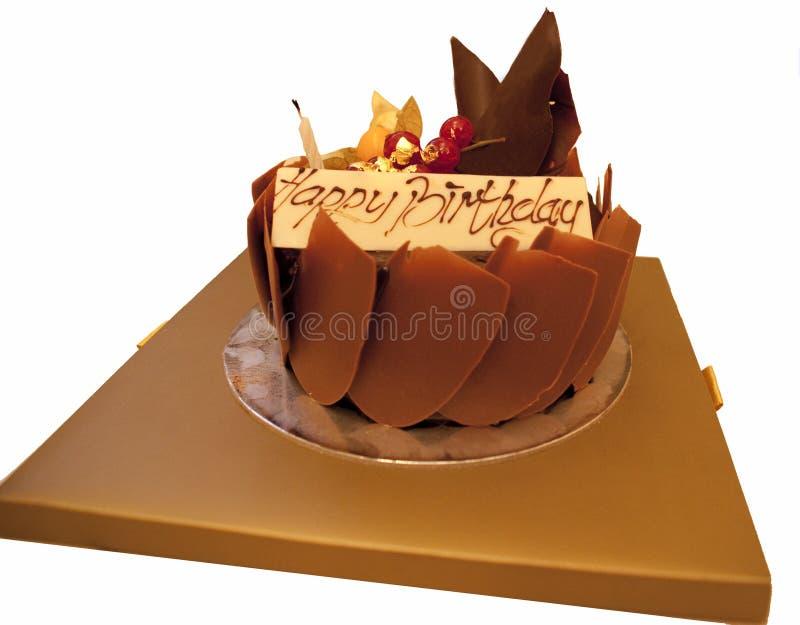 Birthday Cake. Luxury handmade chocolate birthday cake royalty free stock images
