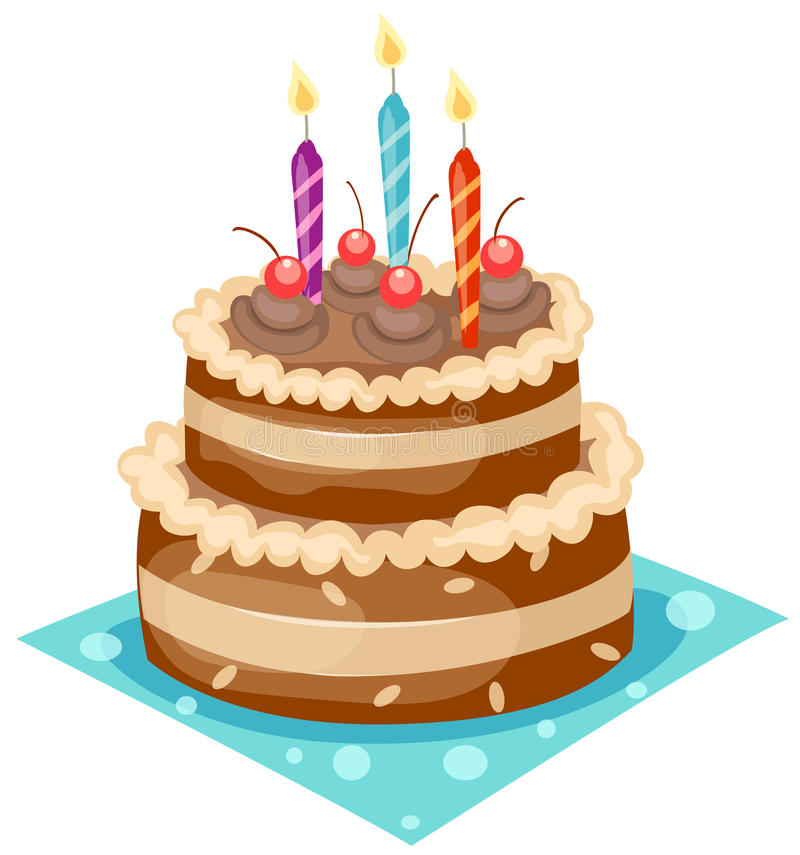 Download Birthday cake stock vector. Image of chocolate, bakery - 14167292