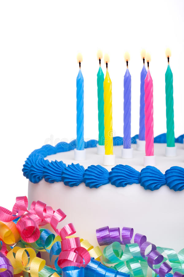 Download Birthday cake stock photo. Image of blue, frosting, white - 14234688