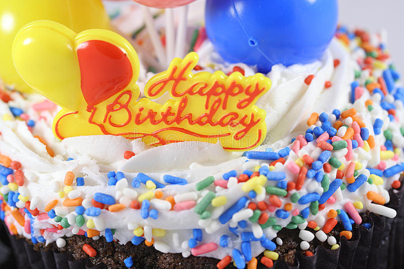 Birthday cake. Close up of birthday cake royalty free stock photography