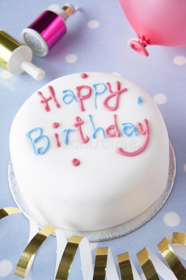 A birthday cake royalty free stock image