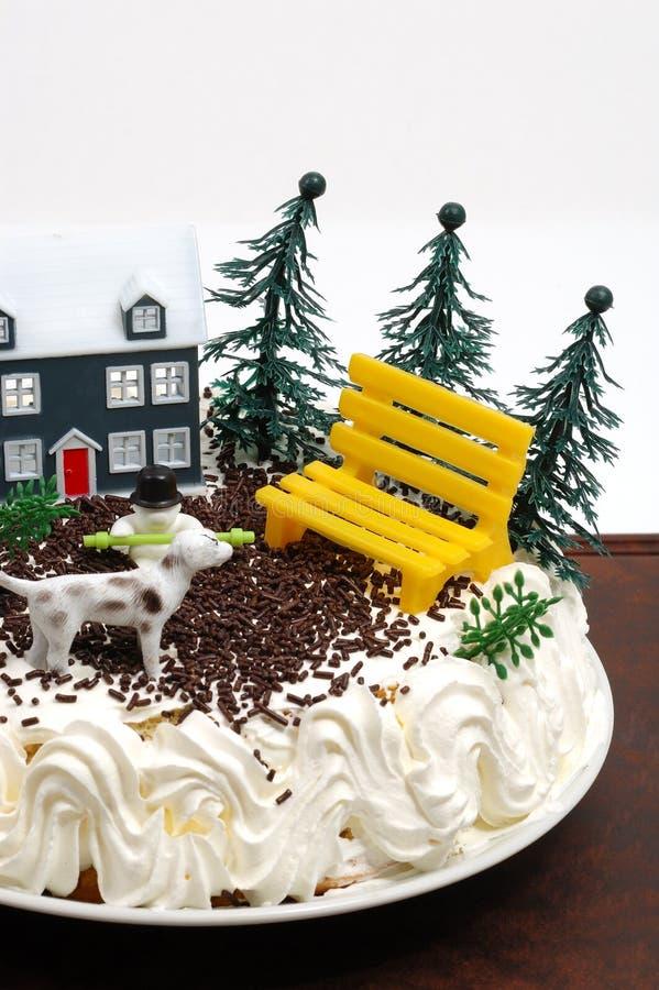 Birthday cake. For children in dark background royalty free stock photos