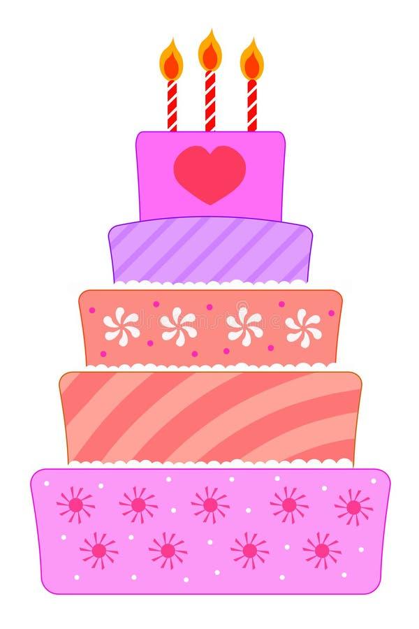 Download Birthday cake stock illustration. Illustration of delicious - 18765768