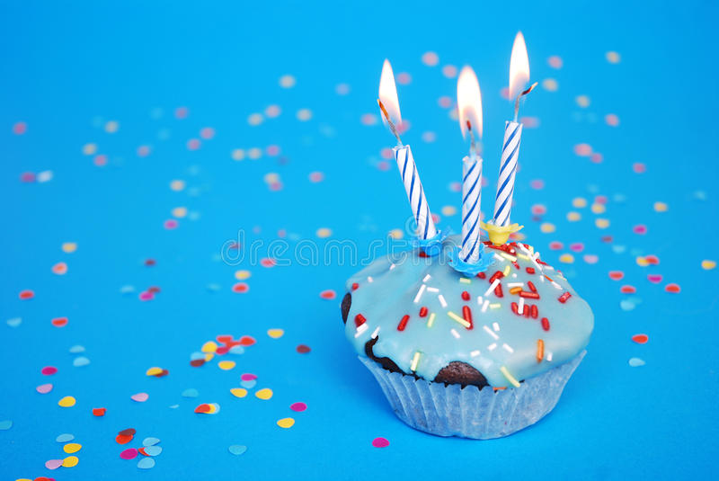 Download Birthday cake stock image. Image of yellow, year, candles - 18905247