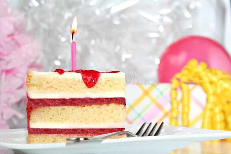 Birthday cake. Perfect slice of birthday cake stock photos
