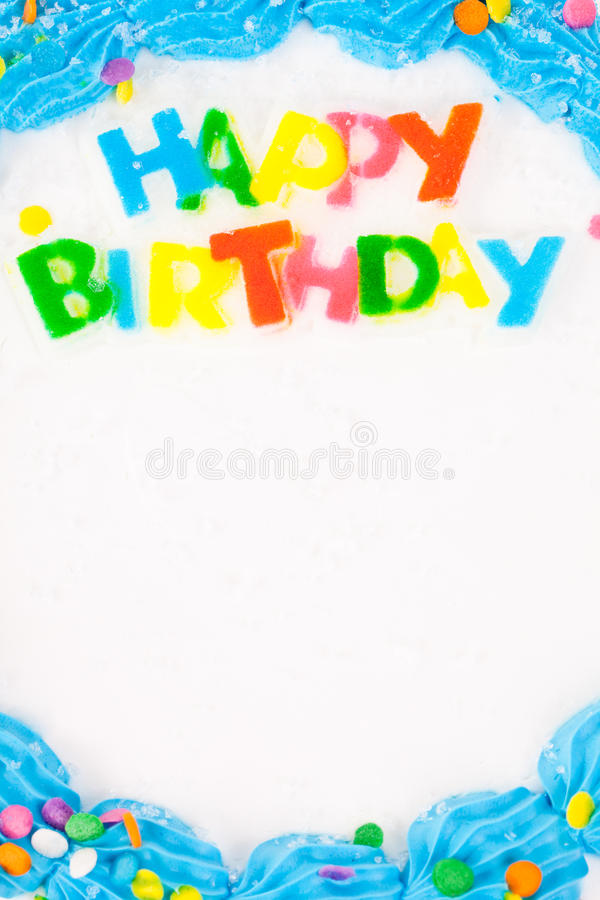 Birthday cake. Happy birthday cake with space for text stock images