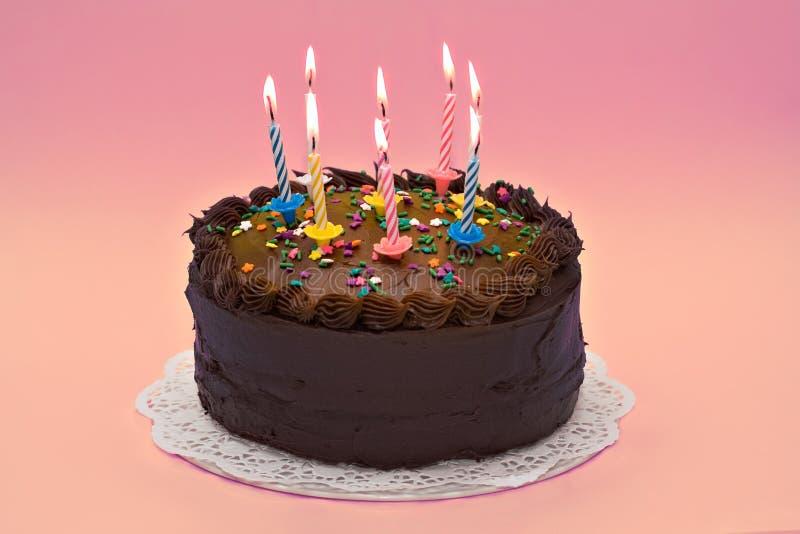 Birthday Cake. A party cake celebrating an anniversary or birthday royalty free stock photo