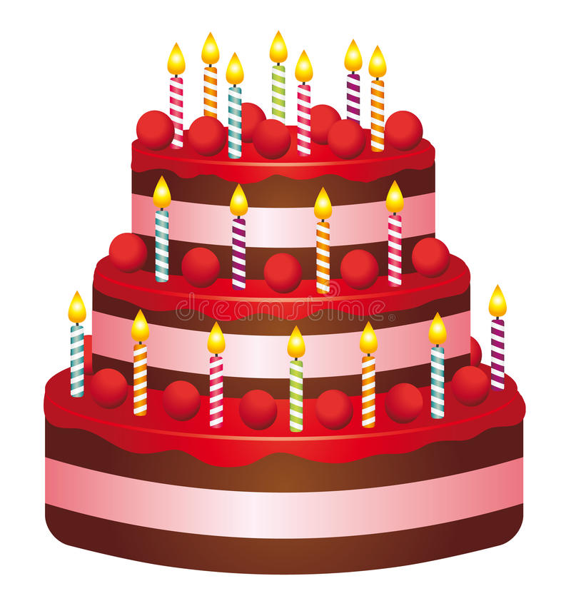Download Birthday cake stock vector. Image of cook, colorful, beautiful - 26709005