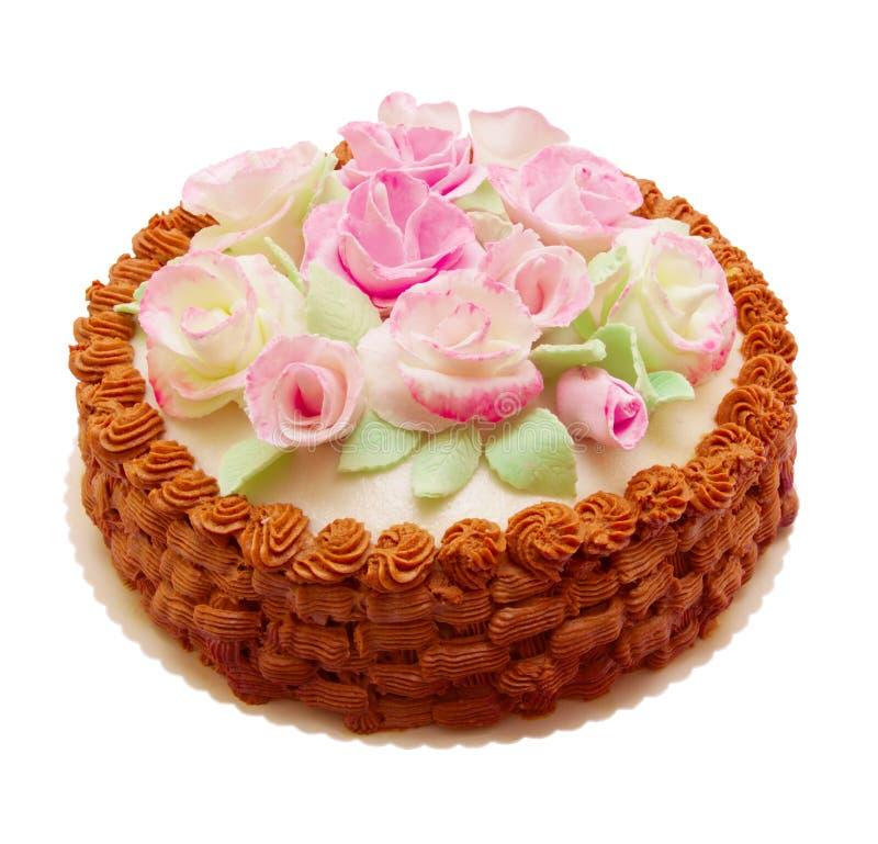 Birthday Cake. On white background royalty free stock photos