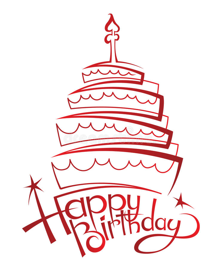 Download Birthday cake stock vector. Image of candles, cartoon - 28628009